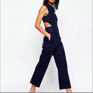 ASOS denim jumpsuit, sz 6 but runs small